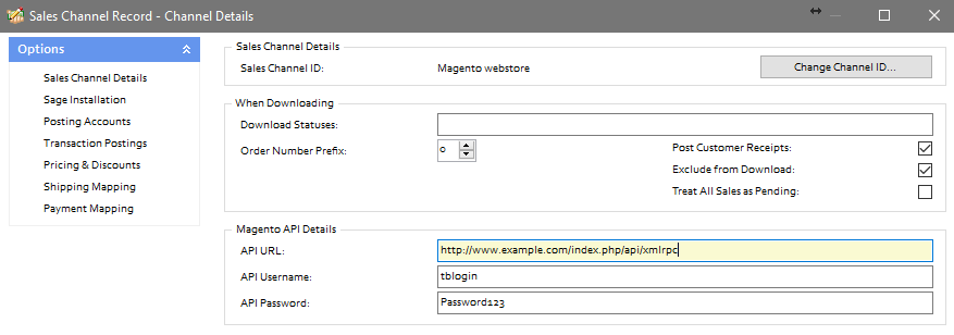 The following error occurred when connecting to Magento: The